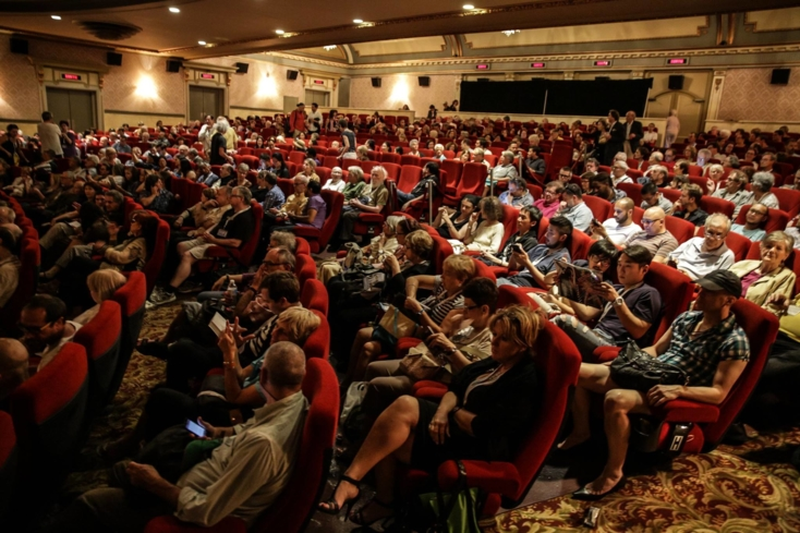 An audience at the Montréal International Film Festival