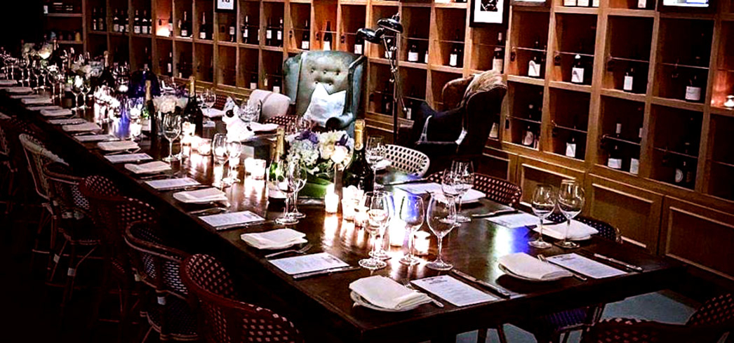 The private dining area at Heritage Fine Wines