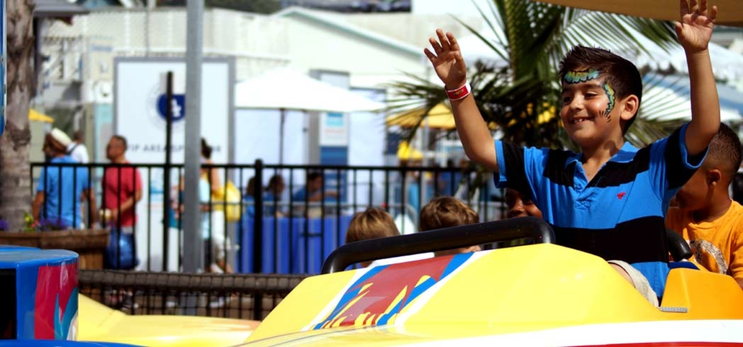 Kids take over rides at Pacific Park on Santa Monica Pier for the Mattel Party on the Pier