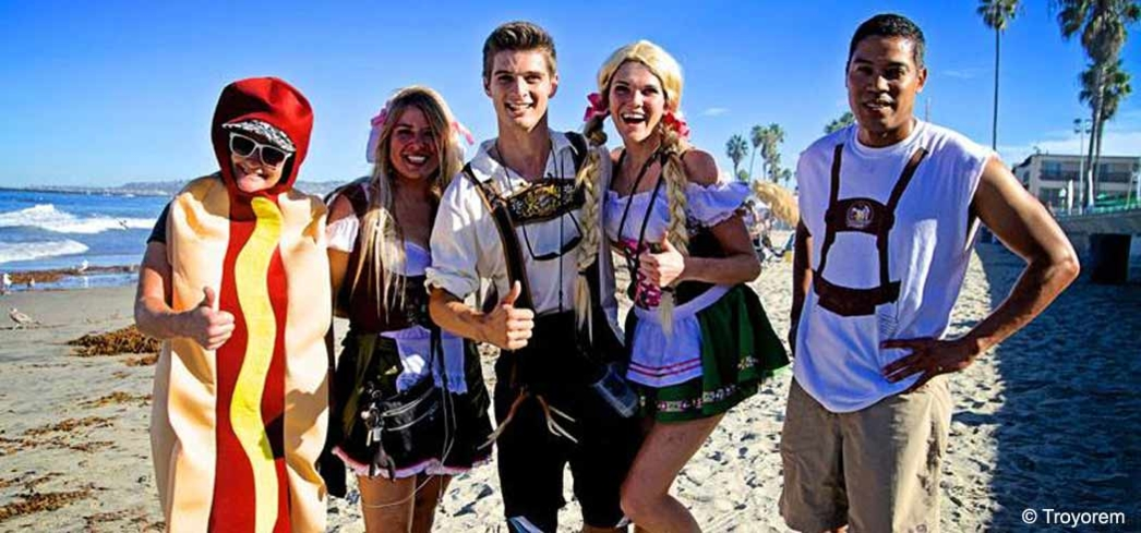 Lederhosens by the beach OB Oktoberfest