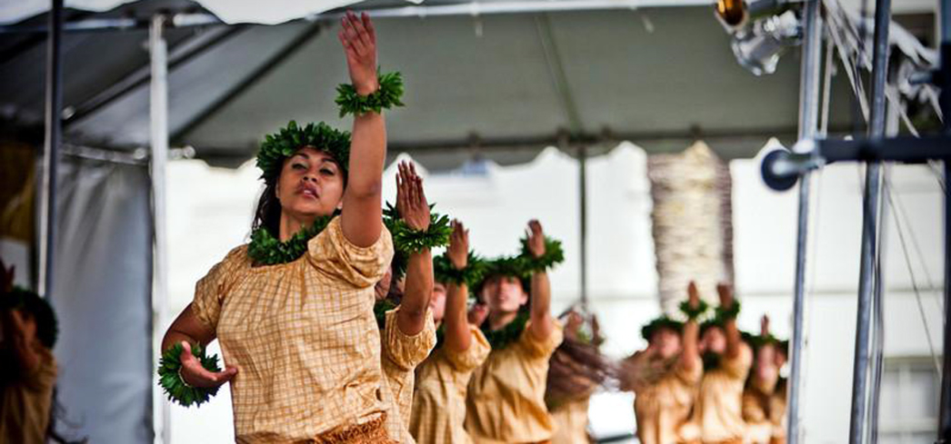 Traditional dancing during the Aloha Festival