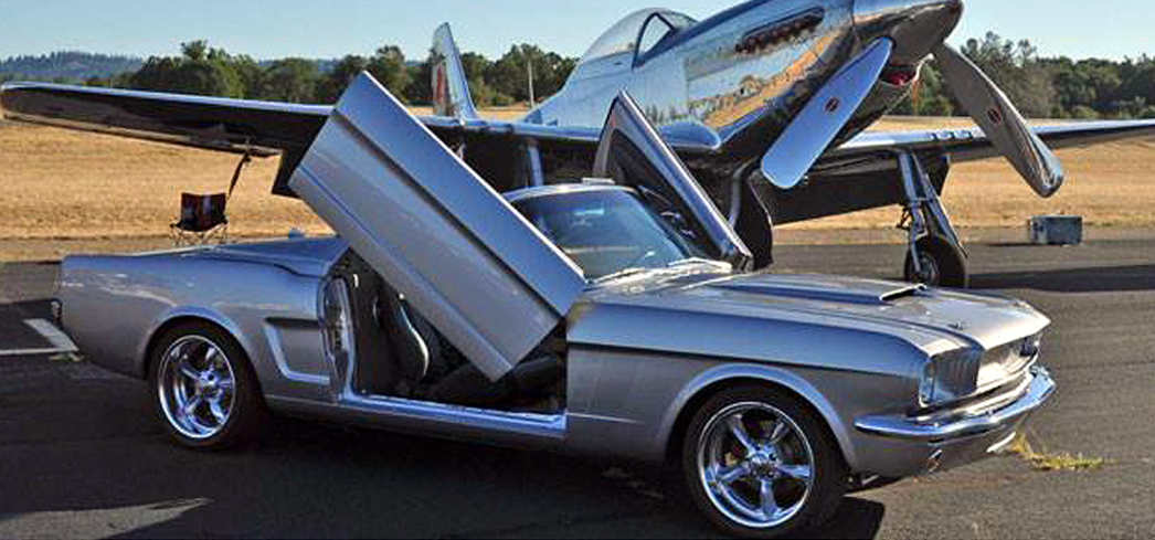 A 1966 Ford Mustang on display at Pacific Coast Dream Machines