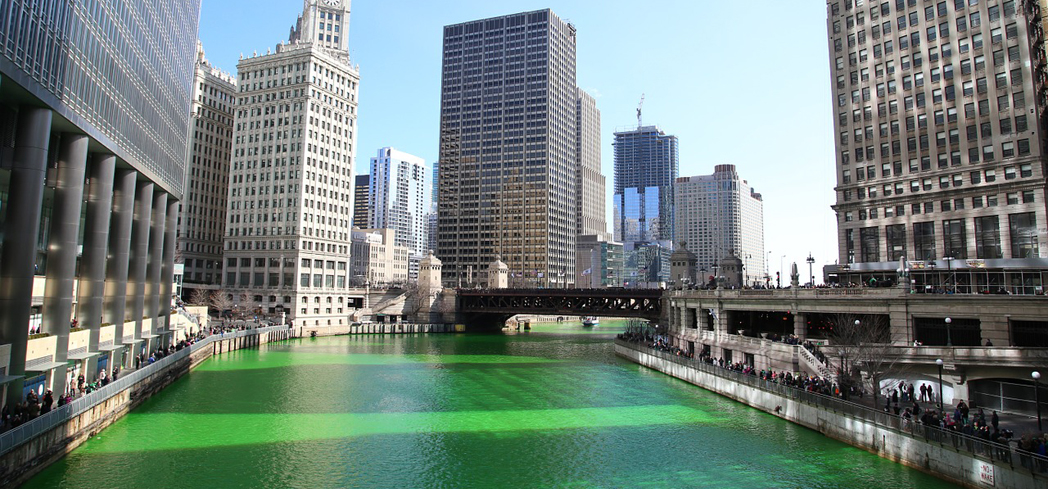The green Chicago River