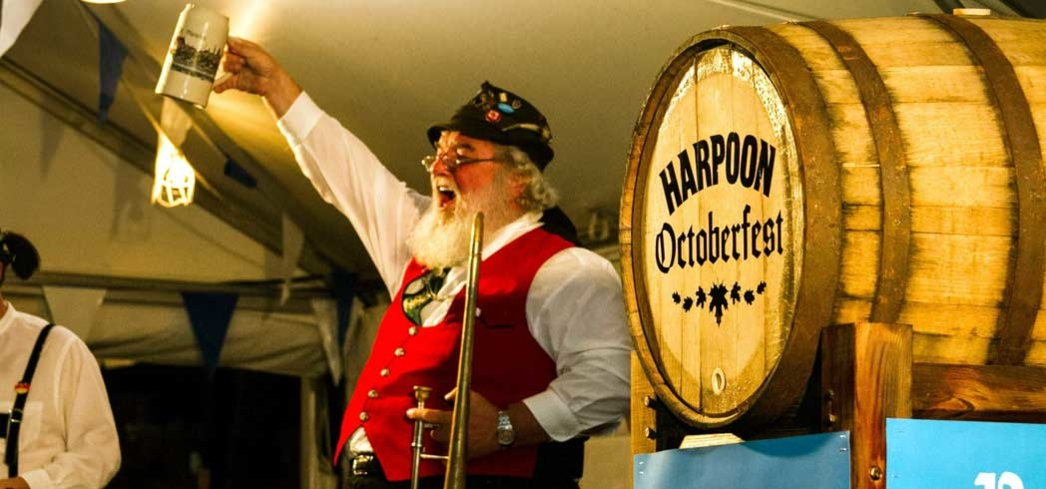 Getting in the spirit for Oktoberfest at Harpoon Brewery