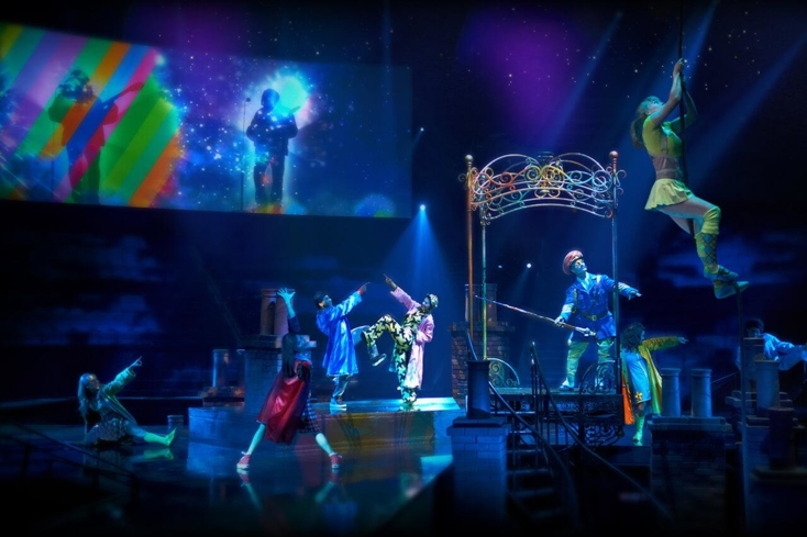 """Get Back"" act in The Beatles Love Cirque du Soleil show"