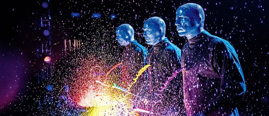 Blue Man Group speaks through the sound they create on stage