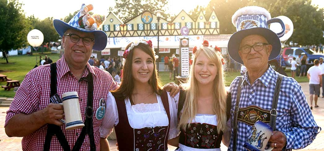 Oktoberfest beer maids and guests get in the spirit in Addison, Texas