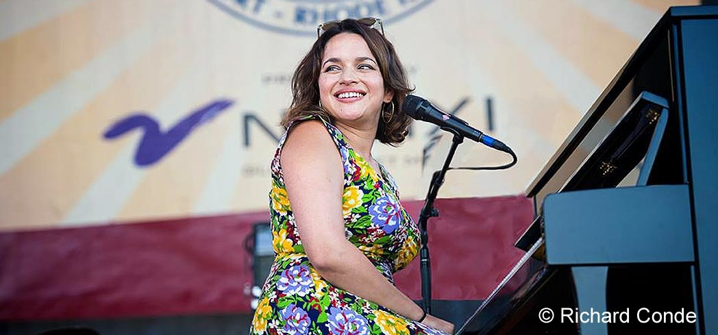 Norah Jones performing during the festival