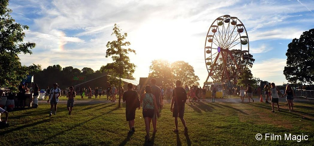 The grounds of the festival in Manchester, TN