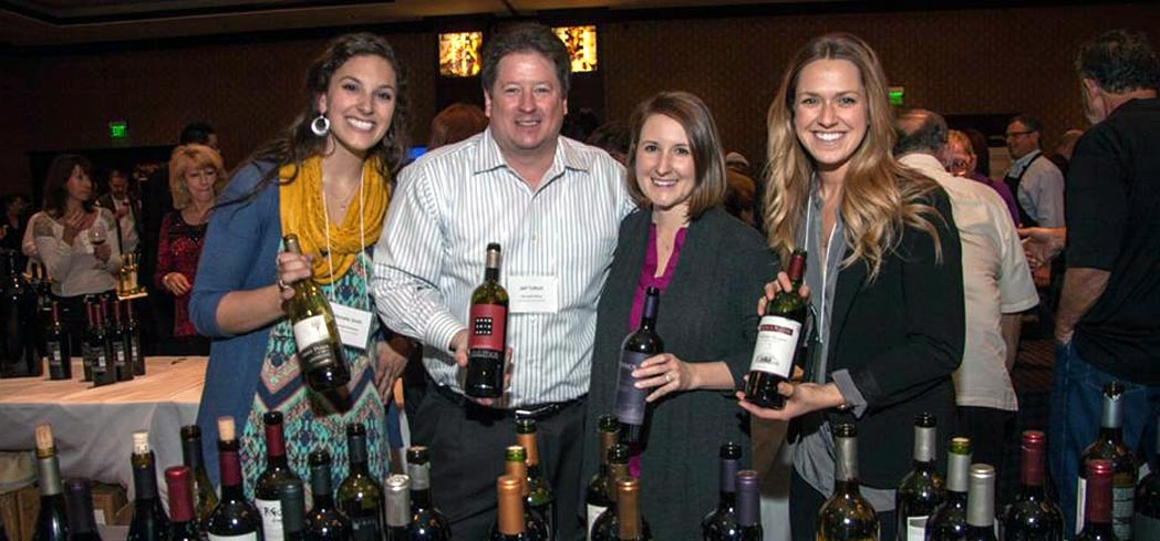The myriad wines at the Denver Wine Fest