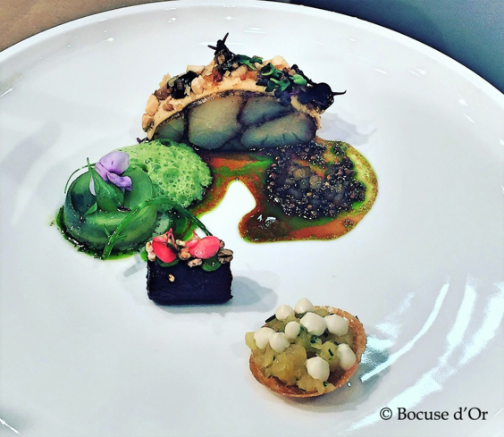 First theme on plates dish from Team Iceland © Bocuse d'Or