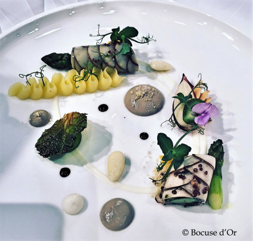 First theme on plates dish from Team USA © Bocuse d'Or