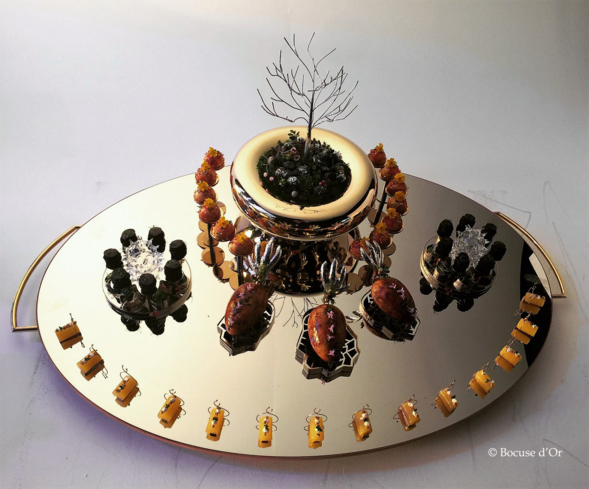 The tray from Team Iceland © Bocuse d'Or