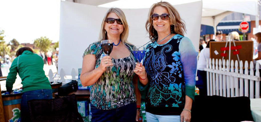 Guests enjoy libations at the Uncorked Wine Fest