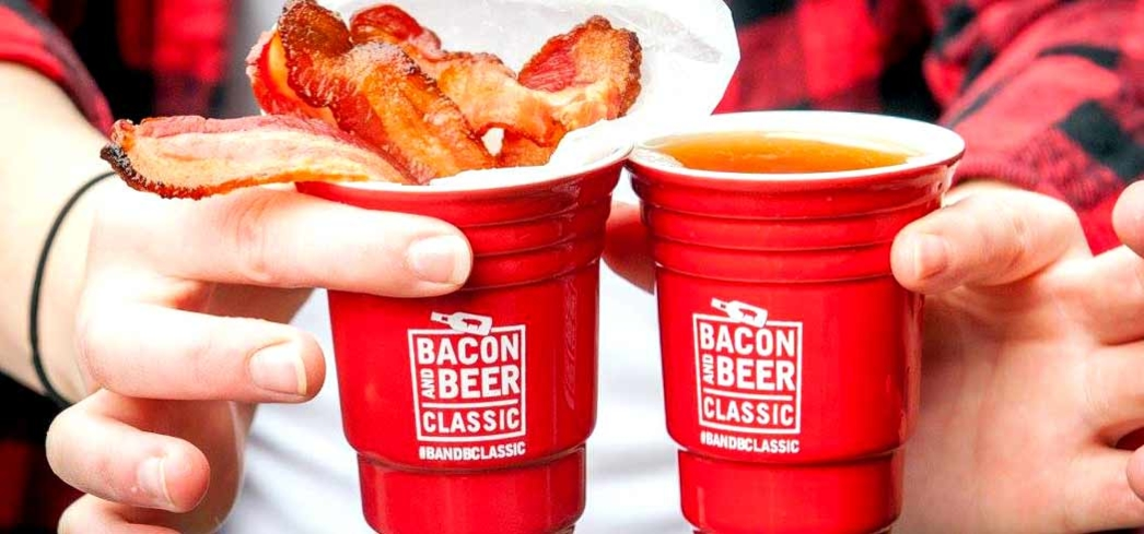 Guests enjoy an endless supply of beers and bacon
