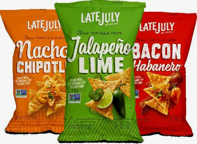 Late July's Latin-inspired flavors include Jalapeño Lime, Bacon Habanero and Nacho Chipotle