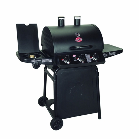 Char-Griller 3001 Grillin' Pro works perfectly as a gas grill