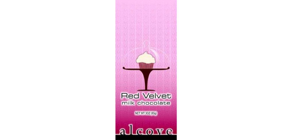Alcove Red Velvet Milk Chocolate is smooth, creamy and has just the right amount of tang