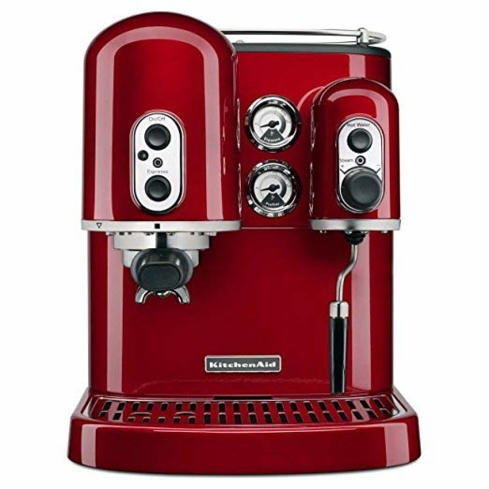 The KitchenAid Pro Line Series Espresso Maker has all the features an at-home barista would enjoy