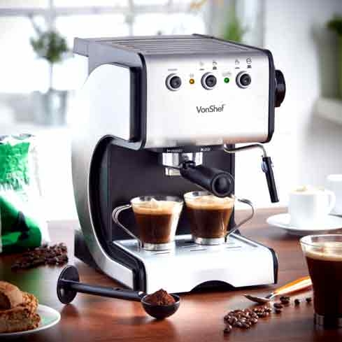 The second edition of the VonShef 15 Bar Premium Espresso Maker