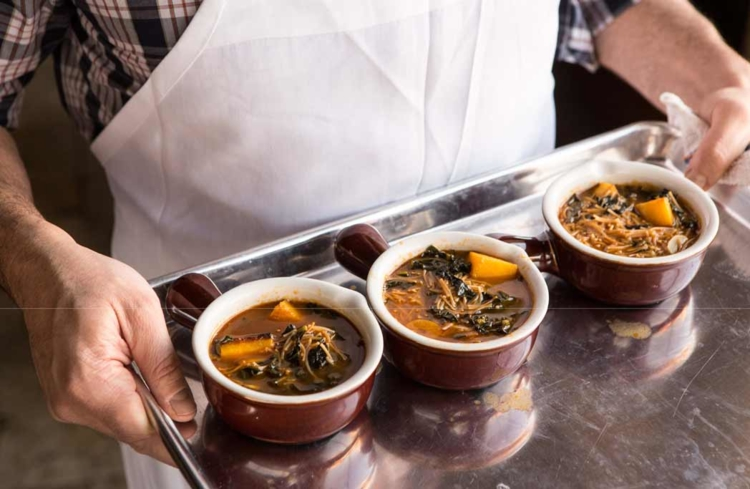 Pumpkin Broth with Fideos (Photo credit: Michael Persico)