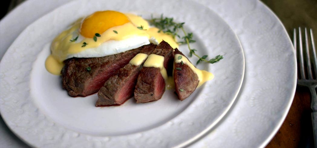 Maria Emmerich's steak and egg from her 30 Day Ketogenic Cleanse book.