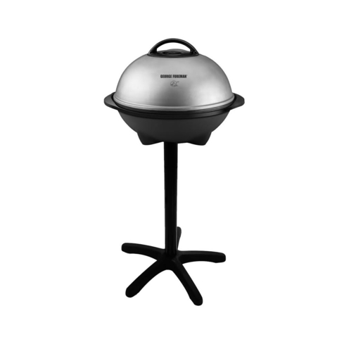 The George Foreman GGR50B Indoor/Outdoor Grill can be used in your kitchen or on your patio