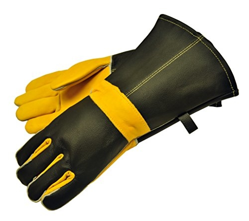 The G & F Gloves are 100 percent cowhide leather with cotton lining