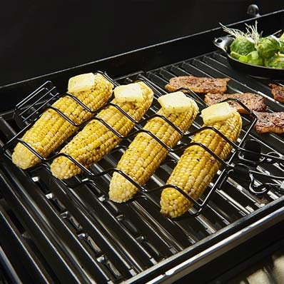 The GrillPro Non-Stick Corn Basket allows for mess-free flipping