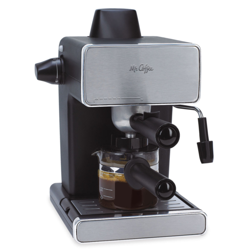 Enjoy rich coffee using the Mr. Coffee steam-powered espresso machine, a best-seller on Amazon