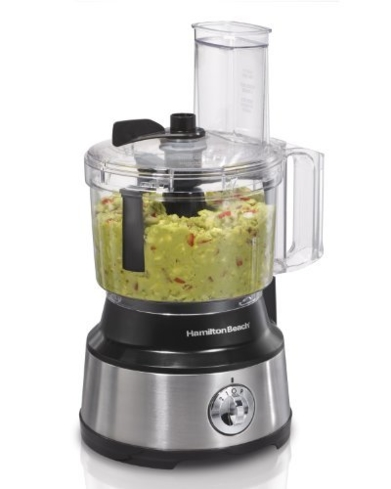 Make sure nothing gets left behind in the container with the Hamilton Beach 70730 Bowl Scraper Food Processor