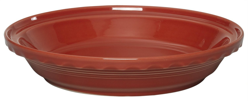 Made in the USA since 1936, the Fiesta Deep Dish Pie Baker is lead and cadmium-free and dishwasher safe