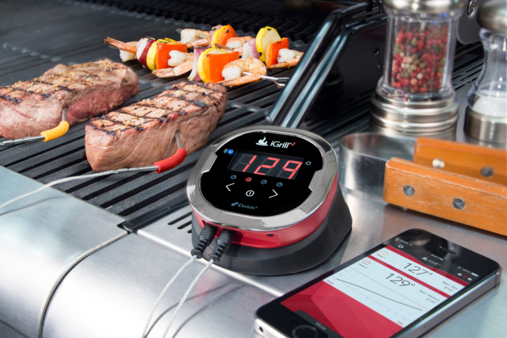 The iGrill2 by iDevices with Bluetooth connectivity simplifies grill monitoring