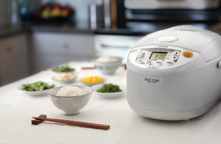 Zojirushi's stainless-steel rice cooker can be used to make everything from steel-cut oats to risotto