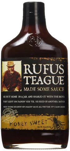 Rufus Teague's Honey Sweet sauce is made of natural ingredients such as raisins, molasses and Dijon mustard