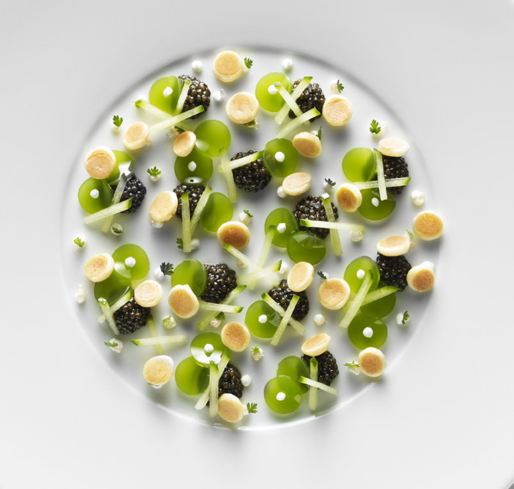 Caviar from chef Christopher Hache, Les Ambassadeurs, Hôtel de Crillon, Paris