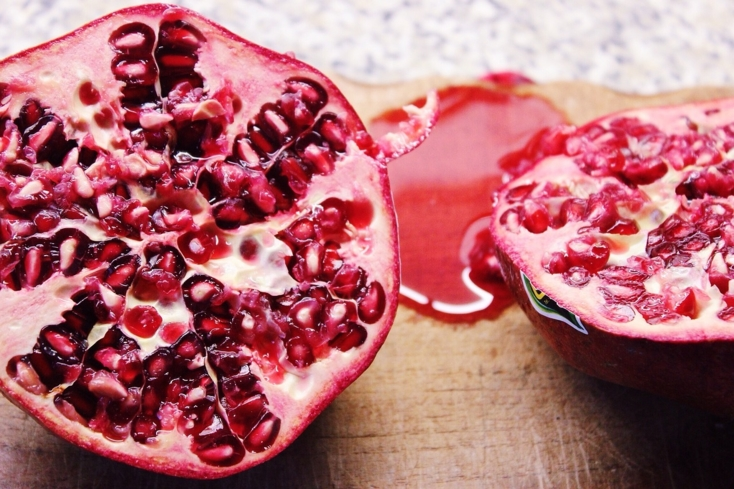 The pomegranate has been associated with female figures, such as biblical Eve and mythical Aphrodite
