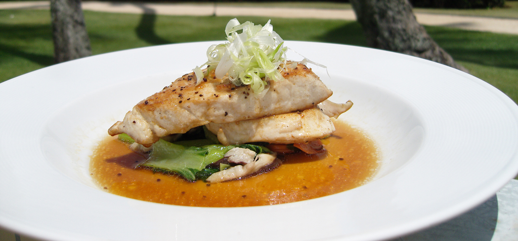Opakapaka, also referred to as the Hawaiian Pink Snapper, is one of the delicacies served at Hoku's restaurant in The Kahala Hotel & Resort