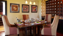 The Grand Suite dining area