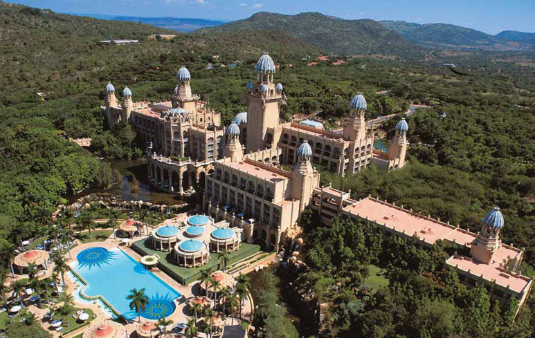 Aerial view of Sun City Resort in South Africa