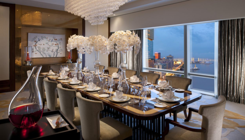 The Presidential Suite dining room