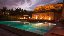 The pool at the RAAS Jodhpur