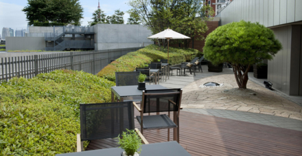 The Grand Club Lounge's terrace