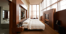 The Presidential Suite's master bedroom