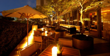 The French Kitchen's outdoor seating