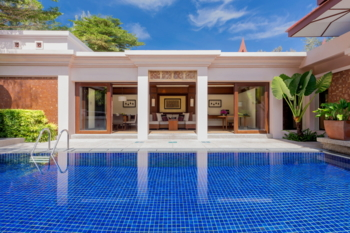 The guest room pool at The Banyan Tree, Phuket