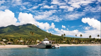 A view of the Four Seasons Resort, Nevis from the Water