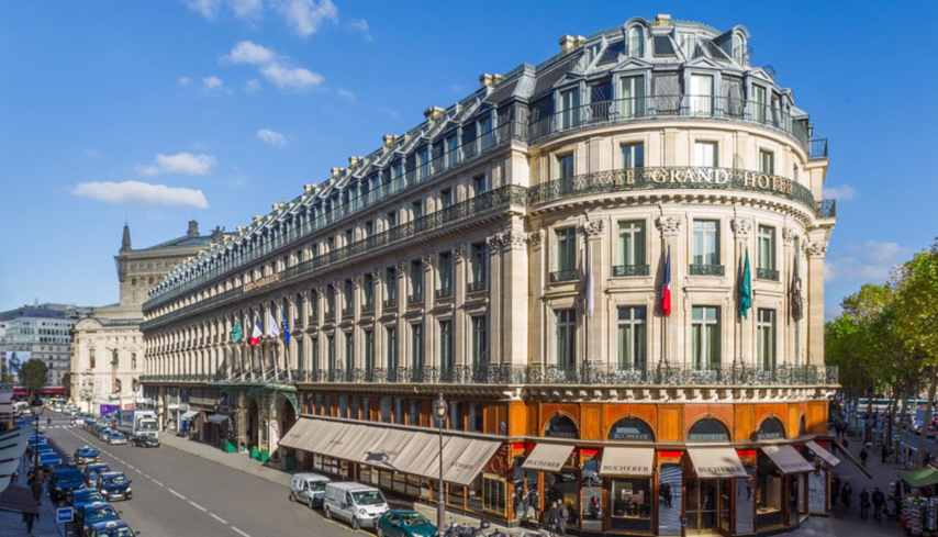 The exterior of the Intercontinental Paris Le Grand