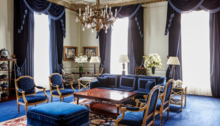 The Presidential Suite living room