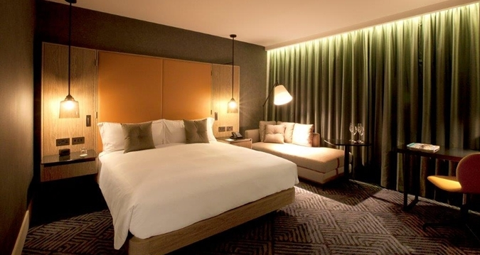 One of the rooms at the Hilton London Bankside.